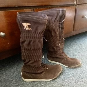 Sorel Firenzy brown suede boots size 7